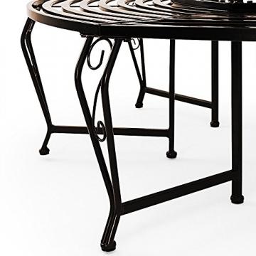 runde baumbank aus metall pulver beschichtet baumbank ratgeber. Black Bedroom Furniture Sets. Home Design Ideas