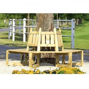 Baumbank Gartenbank für die Aufstellung um einen Baum von Gartenpirat® - 1