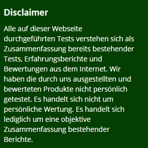Disclaimer von baumbaenke,com